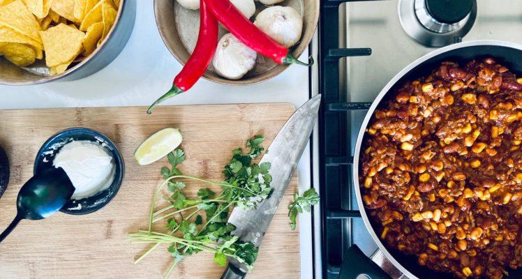 Chili con carne met de Sysas braadpan